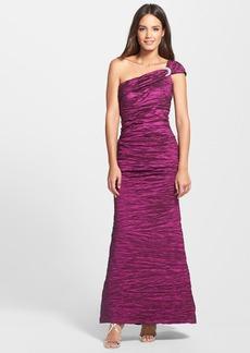 Alex Evenings Embellished One Shoulder Taffeta A-Line Gown