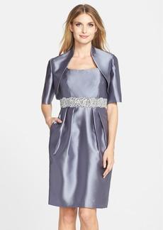 Alex Evenings Embellished Taffeta Sheath Dress & Jacket (Regular & Petite)