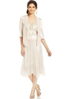 Alex Evenings Embellished Tea-Length Dress and Jacket