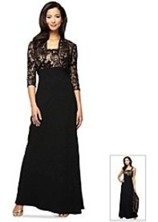 Alex Evenings® Empire Waist Formal Dress With Lace Elbow Sleeve Jacket