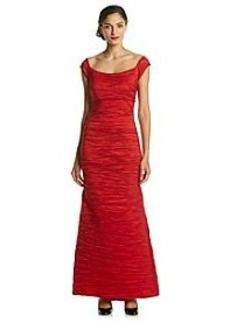 Alex Evenings® Fitted Long Taffeta Dress