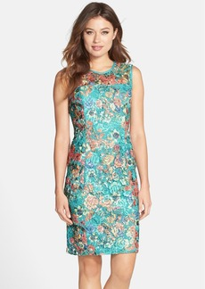 Alex Evenings Floral Lace Sheath Dress (Regular & Petite)