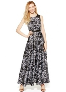 Alex Evenings Floral-Print Gown