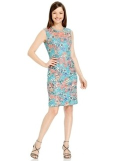 Alex Evenings Floral-Print Lace Sheath Dress