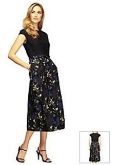 Alex Evenings® Floral Tea Length Dress