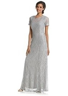 Alex Evenings® Glitter Lace Gown