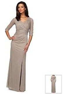Alex Evenings® Glitter Long Surplice Neck