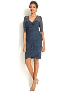 Alex Evenings Illusion Embellished Ruched Sheath
