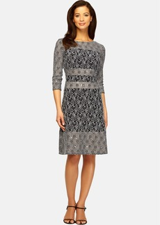 Alex Evenings Illusion Panel Sheath Dress (Regular & Petite)