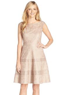 Alex Evenings Illusion Yoke Lace Fit & Flare Dress