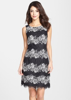 Alex Evenings Lace A-Line Dress (Regular & Petite)