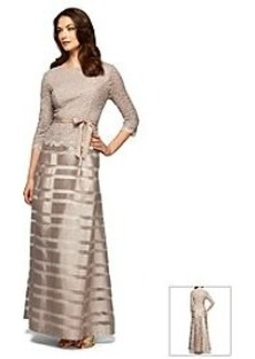 Alex Evenings® Lace And Stripe Gown