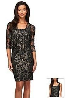 Alex Evenings® Lace Daisy Jacket Dress