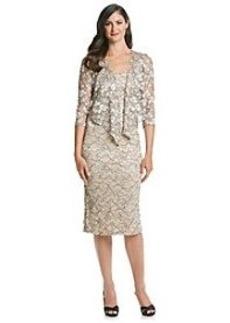Alex Evenings® Lace Tea Length Dress