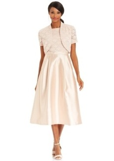 Alex Evenings Lace Tea-Length Dress and Bolero Jacket