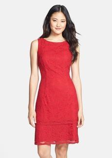 Alex Evenings Lace Tiered Sheath Dress (Petite)