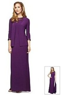 Alex Evenings® Long Bead Neck Jacket Dress