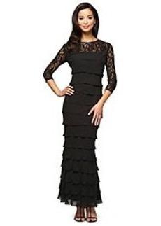 Alex Evenings® Long Illusion Sleeve Sequin Dress
