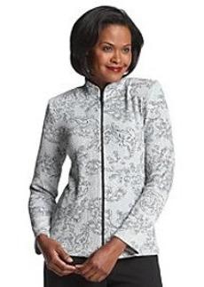 Alex Evenings® Long Sleeve Sparkle Print Jacket