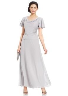 Alex Evenings Metallic Popover A-Line Dress