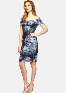 Alex Evenings Off The Shoulder Floral Print Sheath Dress