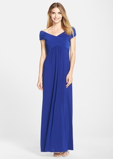 Alex Evenings Off the Shoulder Jersey A-Line Gown