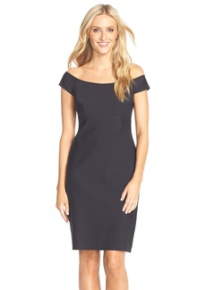 Alex Evenings Off the Shoulder Scuba Sheath Dress