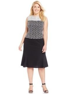 Alex Evenings Plus Size Embellished Lace A-Line Dress