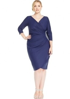 Alex Evenings Plus Size Embellished Sheath Dress