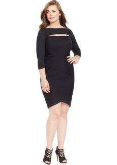 Alex Evenings Plus Size Tiered Cutout Sheath Dress