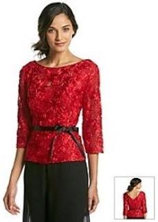 Alex Evenings® Rosette Sequin Top Ribbon Belt