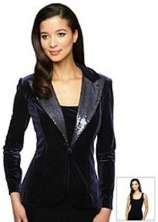 Alex Evenings® Sequin Collar Jacket Twinset