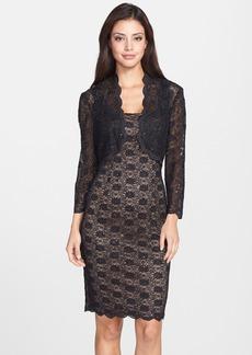 Alex Evenings Sequin Lace Sheath Dress & Bolero (Petite)
