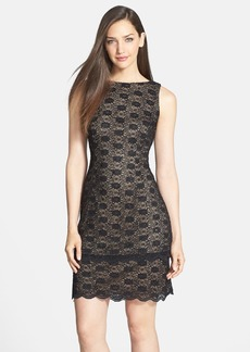 Alex Evenings Sequin Lace Sheath Dress (Regular & Petite)