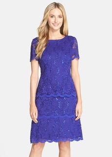 Alex Evenings Sequin Lace Shift Dress (Regular & Petite)