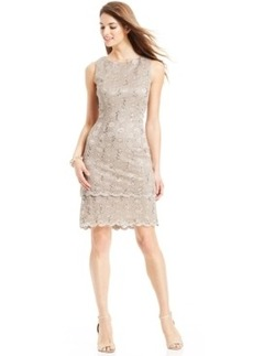 Alex Evenings Sequin Lace Tiered Sheath