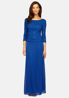 Alex Evenings Sequin Popover Gown