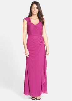 Alex Evenings Shirred Mesh Gown