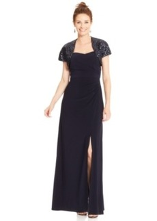 Alex Evenings Sleeveless Gown and Sequin Bolero
