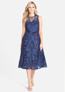 Alex Evenings Soutache Fit & Flare Midi Dress