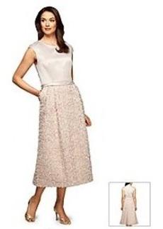 Alex Evenings® Soutache Tea Length Dress