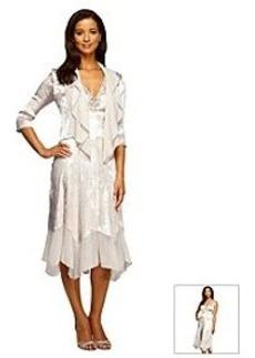 Alex Evenings® Tea Length Beaded Dress