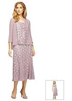 Alex Evenings® Tea Length Swing Jacket Dress