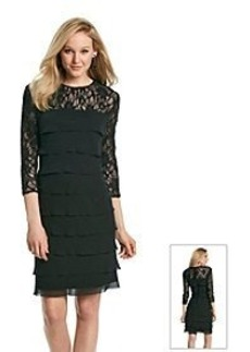 Alex Evenings® Tiered Lace Cocktail Dress