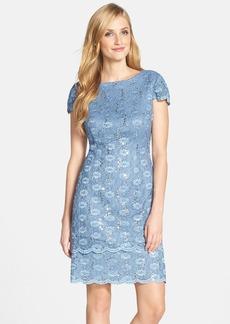Alex Evenings Tiered Lace Sheath Dress (Regular & Petite)