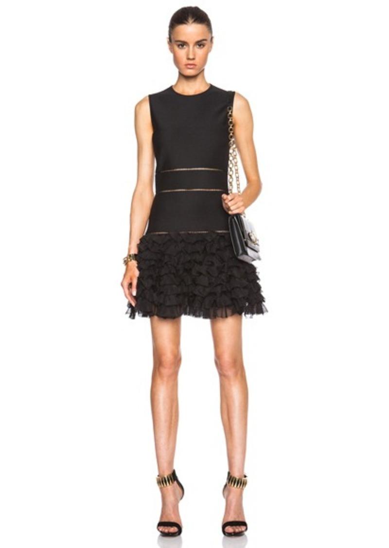 alexander mcqueen alexander mcqueen sleeveless mini dress with ruffle skirt dresses shop it. Black Bedroom Furniture Sets. Home Design Ideas