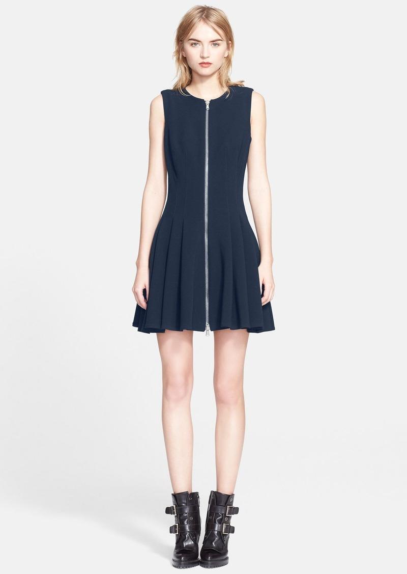 alexander mcqueen alexander mcqueen front zip flare dress dresses shop it to me. Black Bedroom Furniture Sets. Home Design Ideas