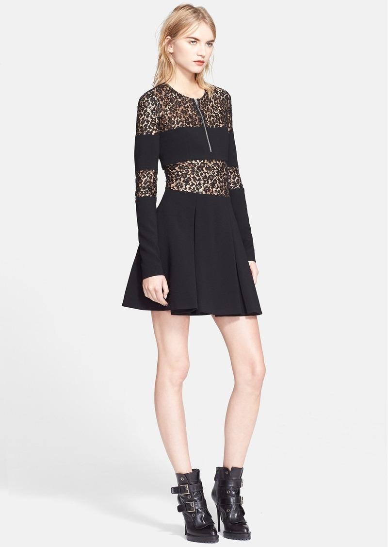 alexander mcqueen alexander mcqueen lace inset zip front dress dresses shop it to me. Black Bedroom Furniture Sets. Home Design Ideas