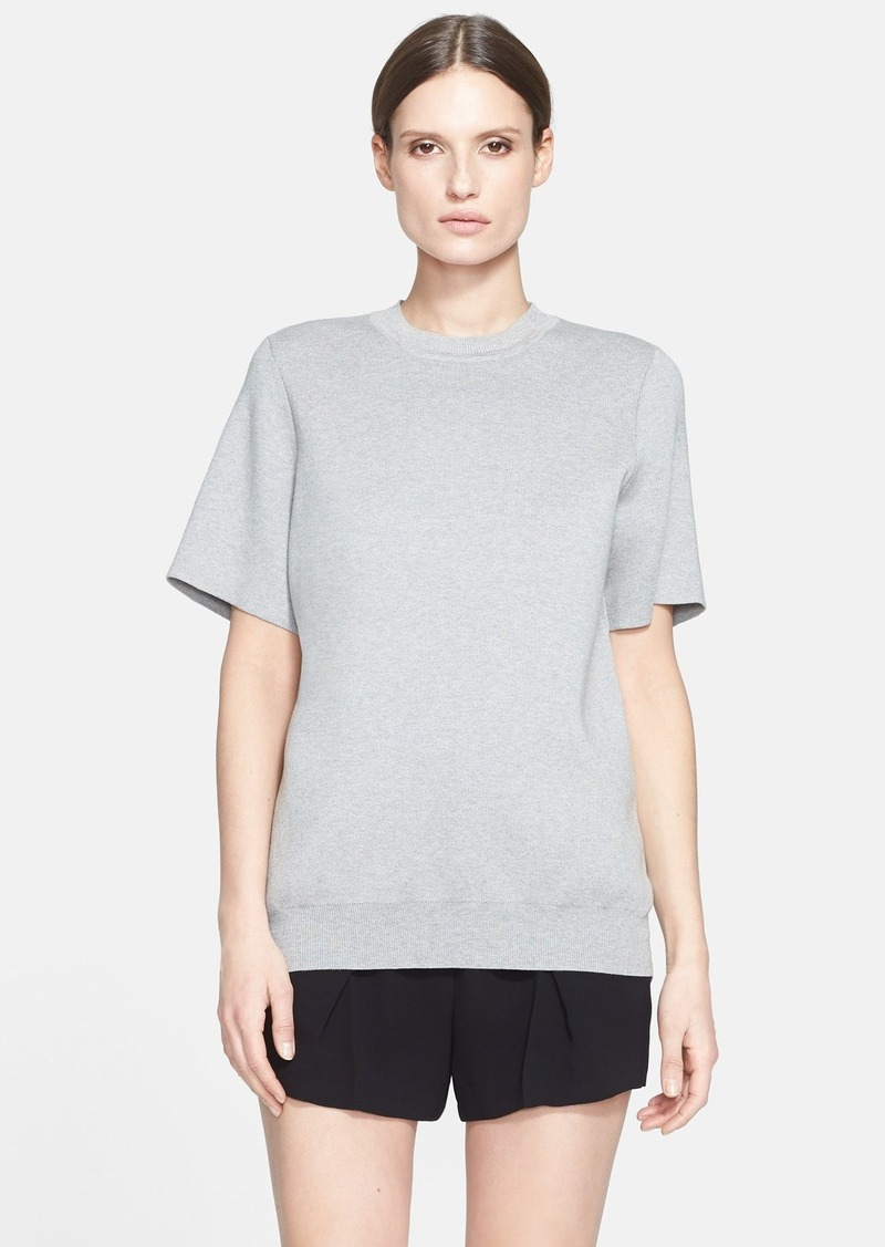 alexander wang alexander wang chambray jacquard hybrid tee casual shirts shop it to me. Black Bedroom Furniture Sets. Home Design Ideas
