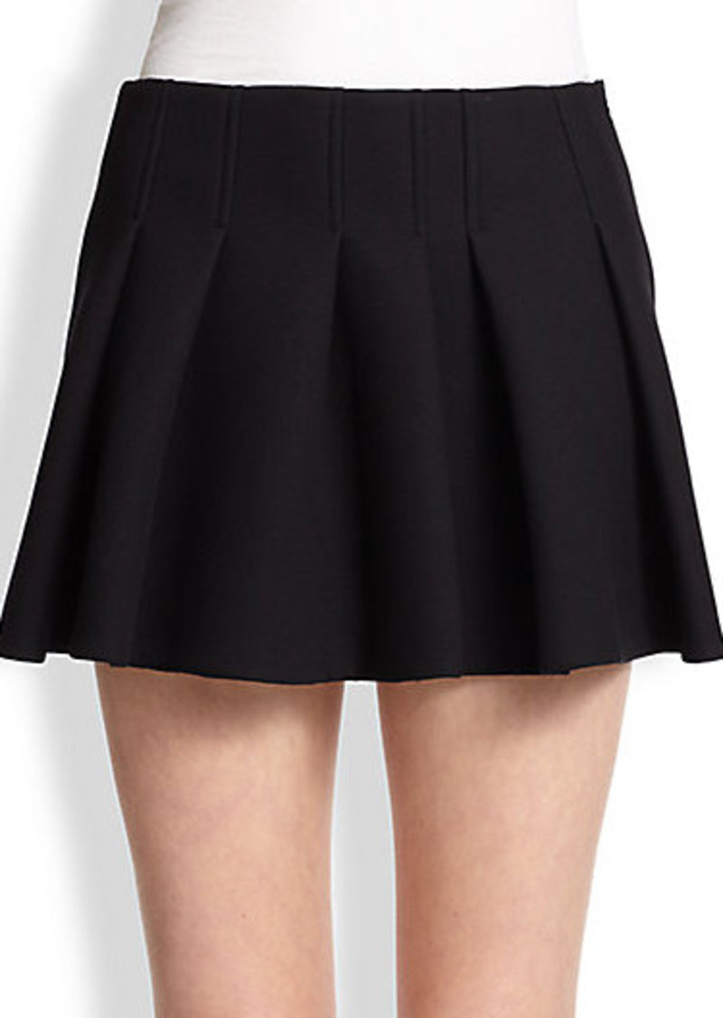 wang wang pleat front mini skirt